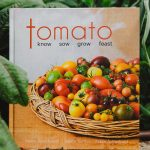 Tomato book cover. Tomato Know Sow Grow Feast