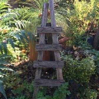 home made timber garden trellis