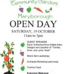 Maryborough community garden open day 19 October with guest presenter Karen Sutherland