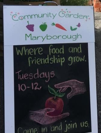 Welcome Blackboard Maryborough Community Garden