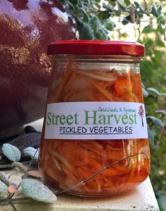Street harvest Maryborough jar of pickled vegetables
