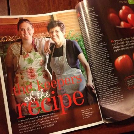 Good Taste Magazine – Mum's Tomato Sauce