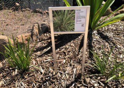 Mat Rush corflute sign Melton Botanical Gardens